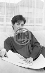 Enya in Aigle Studios, Artane, Dublin, October 1985