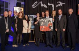 Enya receiving album sales certificates, Warner Music Central Europe, 05.11.2015