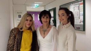 Enya with students at the Cork University, November 2016