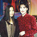 Enya with Chinese singer Dadawa, 1996