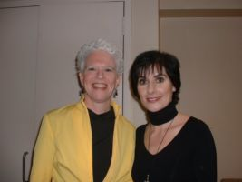 Enya with Martha Mooke (string player for a tv performance), USA, 2006