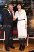 Enya with Gary Player; Press conference in Japan; 20 March 2016