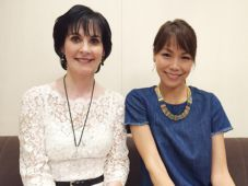 Enya with the J-wave radio presenter; Tokyo; 21 March 2016