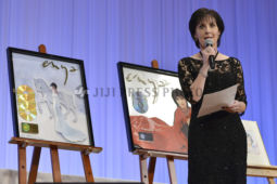 Irish singer Enya sings during a charity auction event that support children who was affected by the March 2011 earthquake and tsunami, in Tokyo, March 22, 2016. JIJI PRESS PHOTO / MORIO TAGA