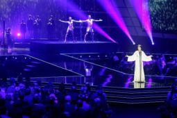 Enya performs 'Echoes in Rain' the Echo Awards on 7 April 2016 in Berlin, Germany