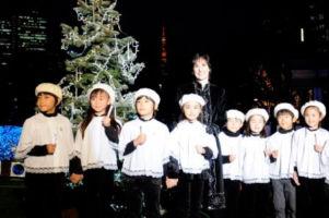 Tree lightning ceremony in Roppongi, Tokyo; 27/11/2008