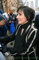 Enya leaving the ABC studios after appearing on 'Live with Regis and Kelly' New York, USA, 18.12.2008