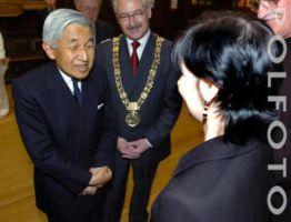 Enya meeting the Emperor & Empress of Japan in Dublin, 9.5.2005
