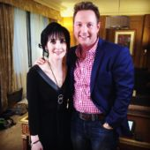 Enya with @showbizjamie on Instagram