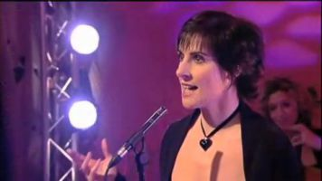 Enya performing Trains and Winter Rains on GMTV, UK; 13.11.2008